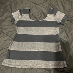 Old Navy sparkle striped tee